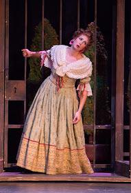 IN PERFORMANCE: mezzo-soprano CECELIA HALL as Rosina in Greensboro Opera's production of Gioachino Rossini's IL BARBIERE DI SIVIGLIA, January 2018 [Photo by Star Path Images, © by Greensboro Opera]
