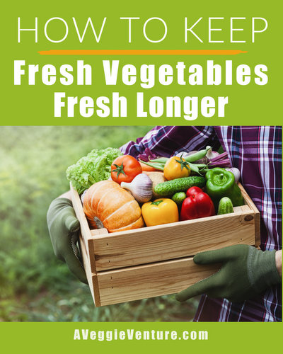How to Keep Fresh Vegetables Fresh Longer, more helpful, practical tips about vegetables ♥ AVeggieVenture.com.
