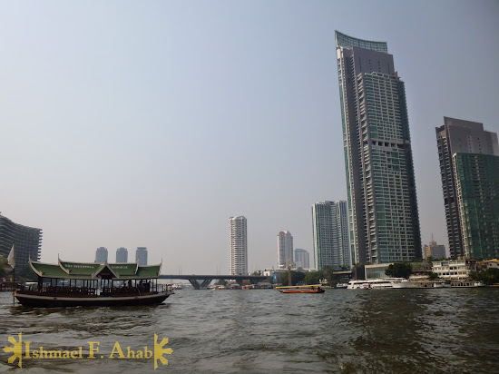 Tall towers along Chao Phraya River, Bangkok