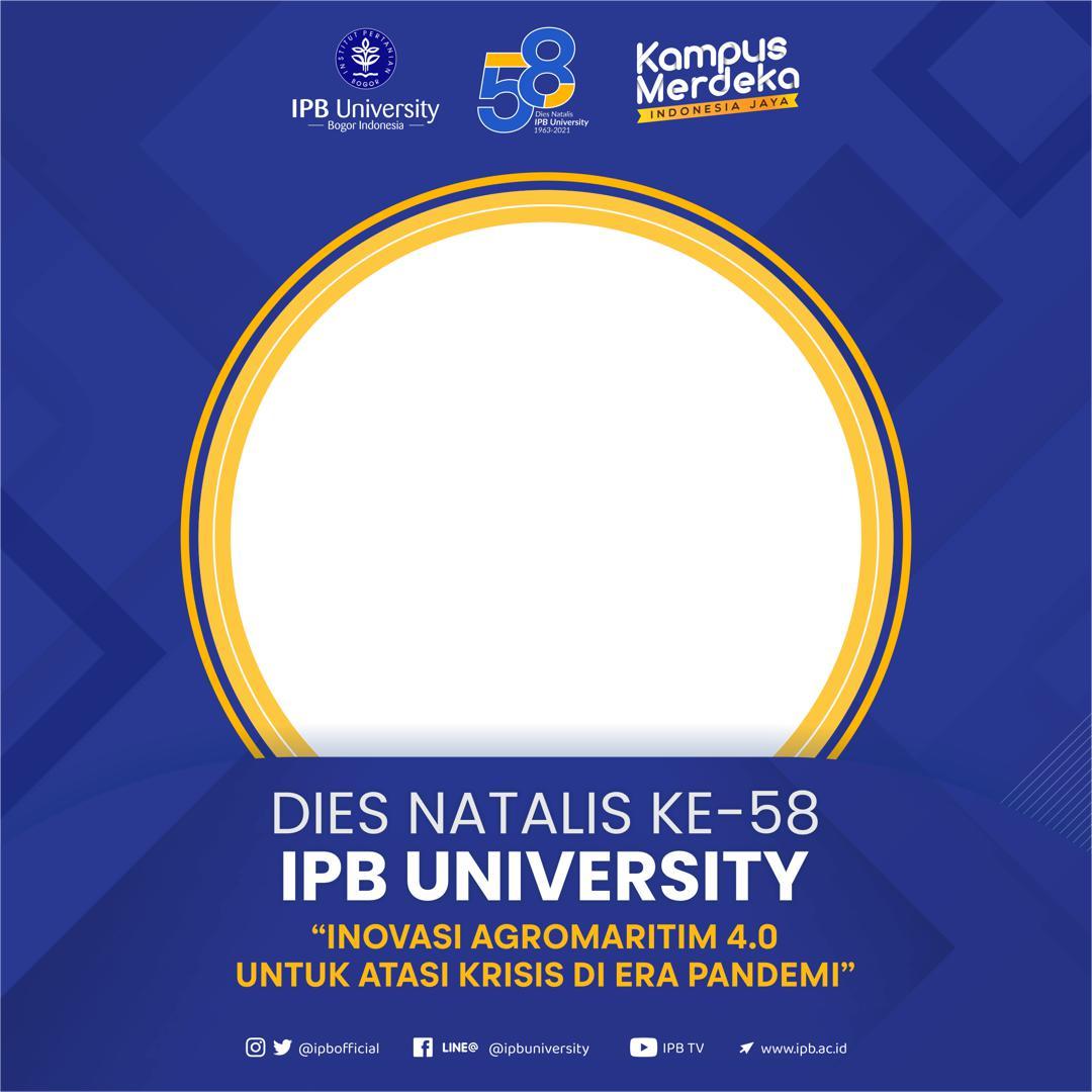 Link Download Bingkai Foto Twibbon Dies Natalis ke-58 IPB University Tahun 2021