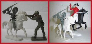 30mm Figures; Cowboy Horses; Cowboys; Cowboys & Indians; Cowboys and Indians; Foot Indians; Hong Kong; Jean Höffler; Trioplast; Mounted Natives; Small Scale World; smallscaleworld.blogspot.com; Horse; Wild West; Peruvian Toy Figures; Made In Peru