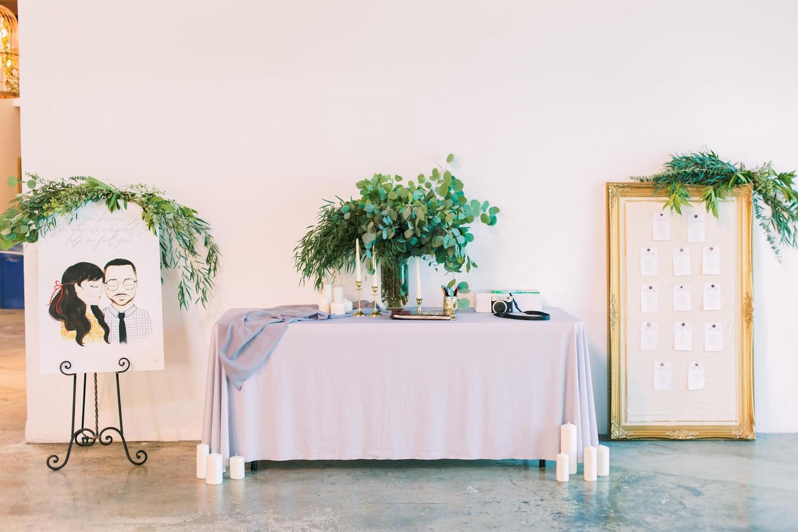 las vegas wedding, caricature, guestbook, seating chart
