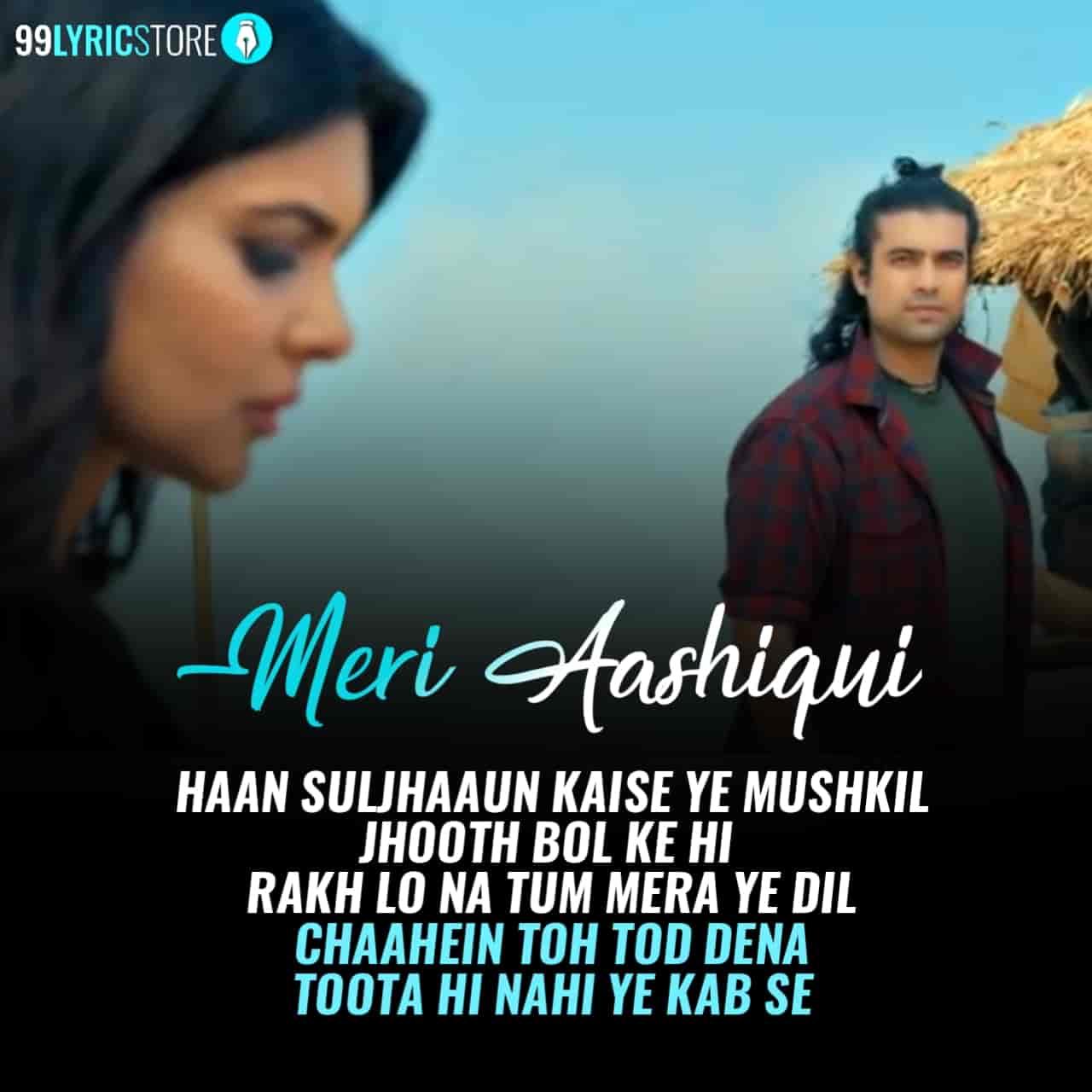 Meri Aashiqui Song Image By Jubin Nautiyal features Ihana Dhillon