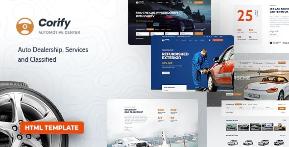 Best Car Dealership, Services & Classified HTML Template