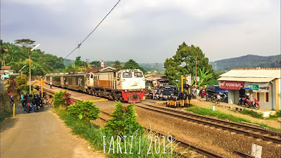 The Argo Parahyangan Train Passing Cilame Station