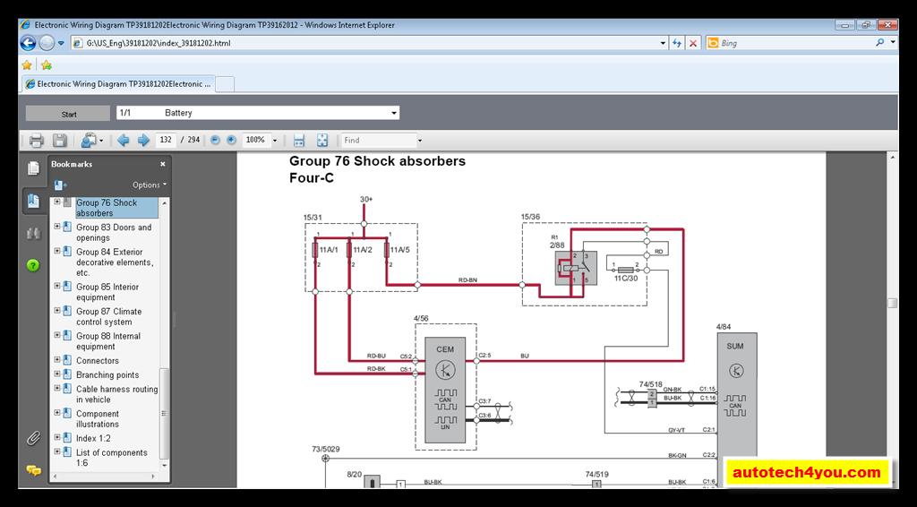 Volvo Cars Wiring Diagrams 2011 ~ الموقع الأول فى الشرق الأوسط المتخصص فى كتالوجات الصيانة وقطع
