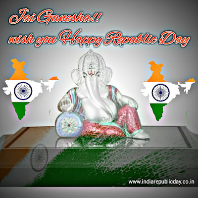 Lord Ganesha Happy Republic Day images, photos