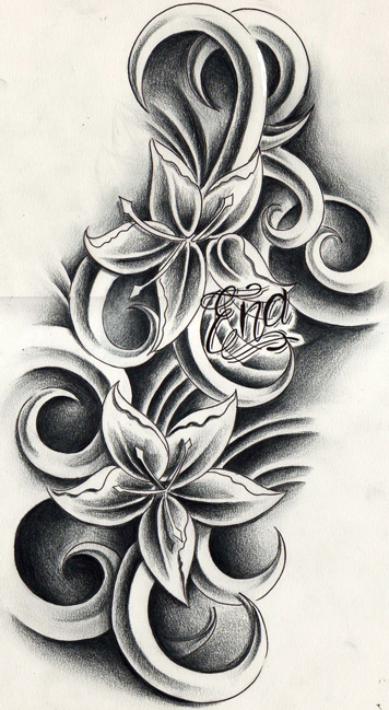 flower designs tattoos 146