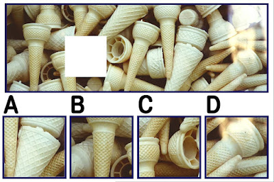 Figure: There are uni-cones for days!! Select the missing piece.