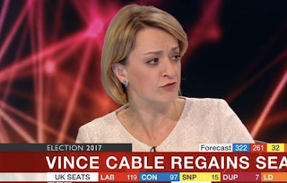 BBC political editor Laura Kuenssberg drops C-bomb while discussing Theresa May's disastrous general election result