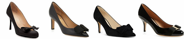 Three of these pairs of bow pumps are from designers for hundreds and one is from Nine West on sale for $50. Can you guess which one is the more affordable pair? Click the links below to see if you are correct!