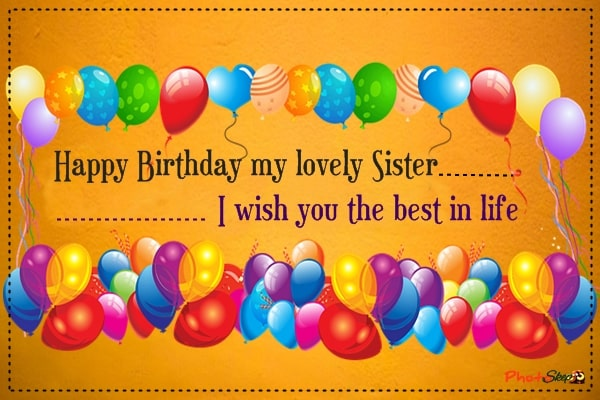 Best happy birthday Sister images, photos, Greeting, happy birthday wishes for sister, happy birthday little sweet sister