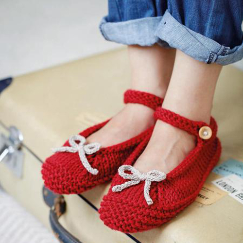 Ruby Red Ballerina Slippers - Free Pattern