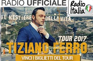 Logo Vinci gratis biglietti Tiziano Ferro Tour 2017