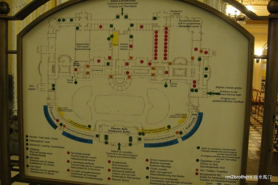 塞切尼溫泉浴場配置圖