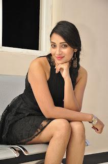Actress Bhanu Sri Stills in Black Short Dress at Dandu Movie Audio Launch  0034.jpg
