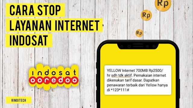 Cara Berhenti Semua Paket Internet Indosat