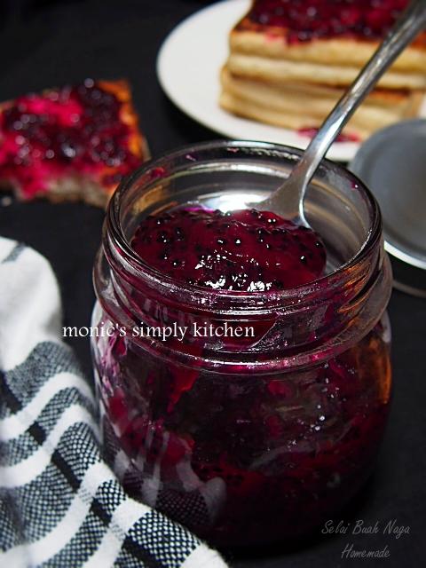 resep selai buah naga homemade