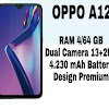 "OPPO A12 - 4GB/64GB - 6,22"" Inch Screen - 4230mAh Battery"