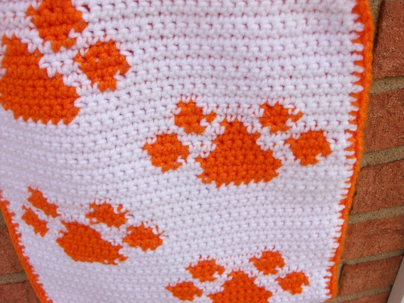 Paw Print Design on a Tote Bag