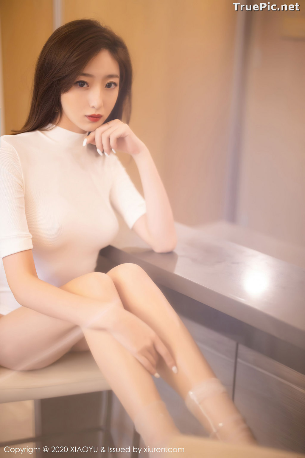 Image XiaoYu Vol.389 - Chinese Model - 安琪 Yee - Beautiful In White - TruePic.net - Picture-6