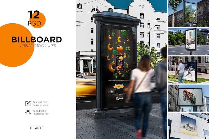 12 PSD Billboards Urban Mock-Up