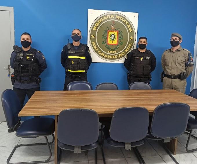 Subcomandante do 26º BPM se reúne com a Guarda Municipal e Guarda de Trânsito de Cachoeirinha