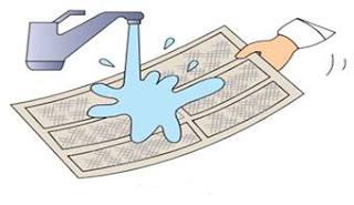 تنظيف فلتر المكيف النافذة