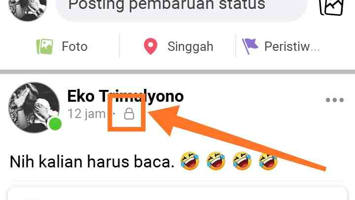 Cara menyembunyikan status dan foto di Facebook