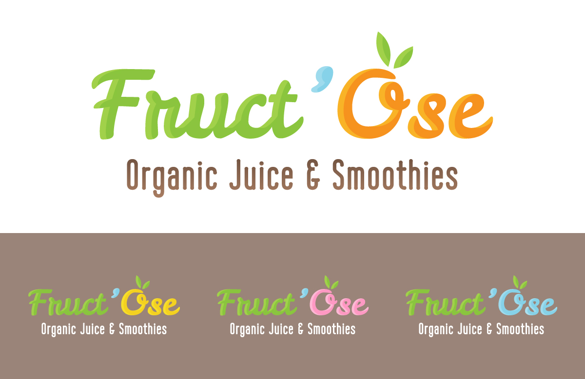 Création logo Fruct'Ose, bar à jus et smoothies