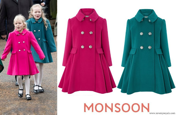 Isla and Savannah wore Monsoon Millie and Tilly coat