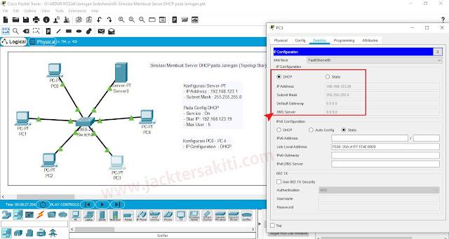Cara Setting DHCP Server Dengan Cisco Packet Tracer