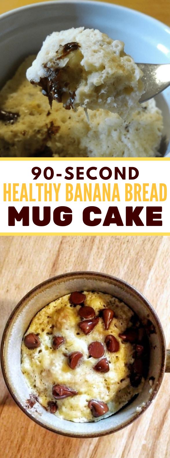 Healthy single serving banana bread #diet #breakfast