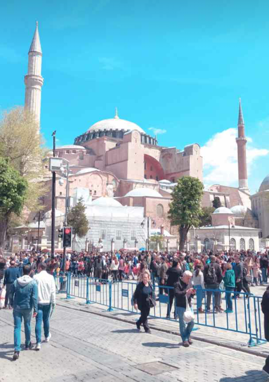 History of Hagia Sophia After Becoming Mosque in Istanbul, Turkey
