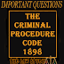 Important Question Code of Criminal Procedure