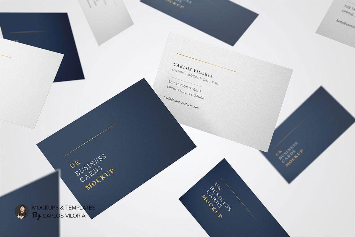 UK Business Cards Mockup 10...