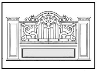 desain pagar rumah besi tempa