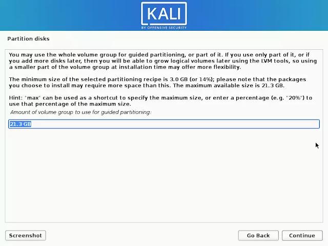 LVM Kali Linux