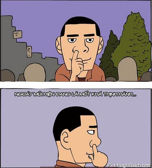 Ngoáy mũi đang là mốt hiện đại