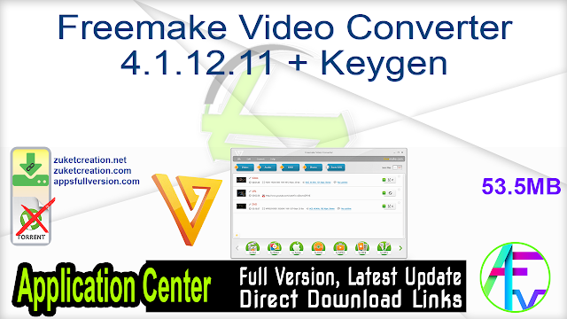 Freemake Video Converter 4.1.12.11 + Keygen