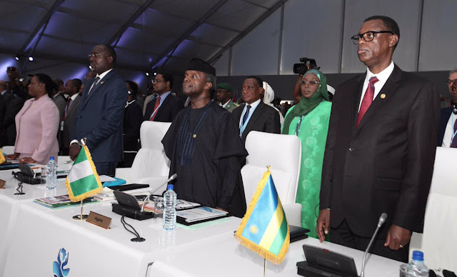 Vice President Osinbajo represented Pres M.buhari at the AfricanUnion Summit on Maritime Security in Lome, Togo, on Saturday(photo)