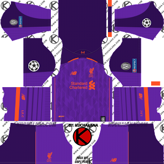 Liverpool FC 2018/19 UCL Kit - Dream League Soccer Kits