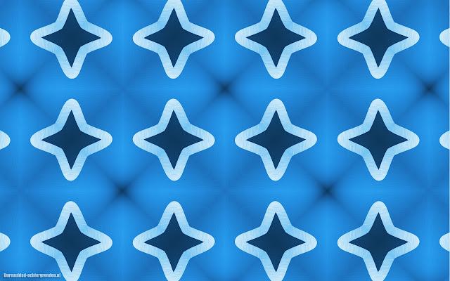 Blauwe wallpaper met sterren patroon