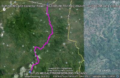 Track jalan  menuju Situs Megalitikum Gunung Padang