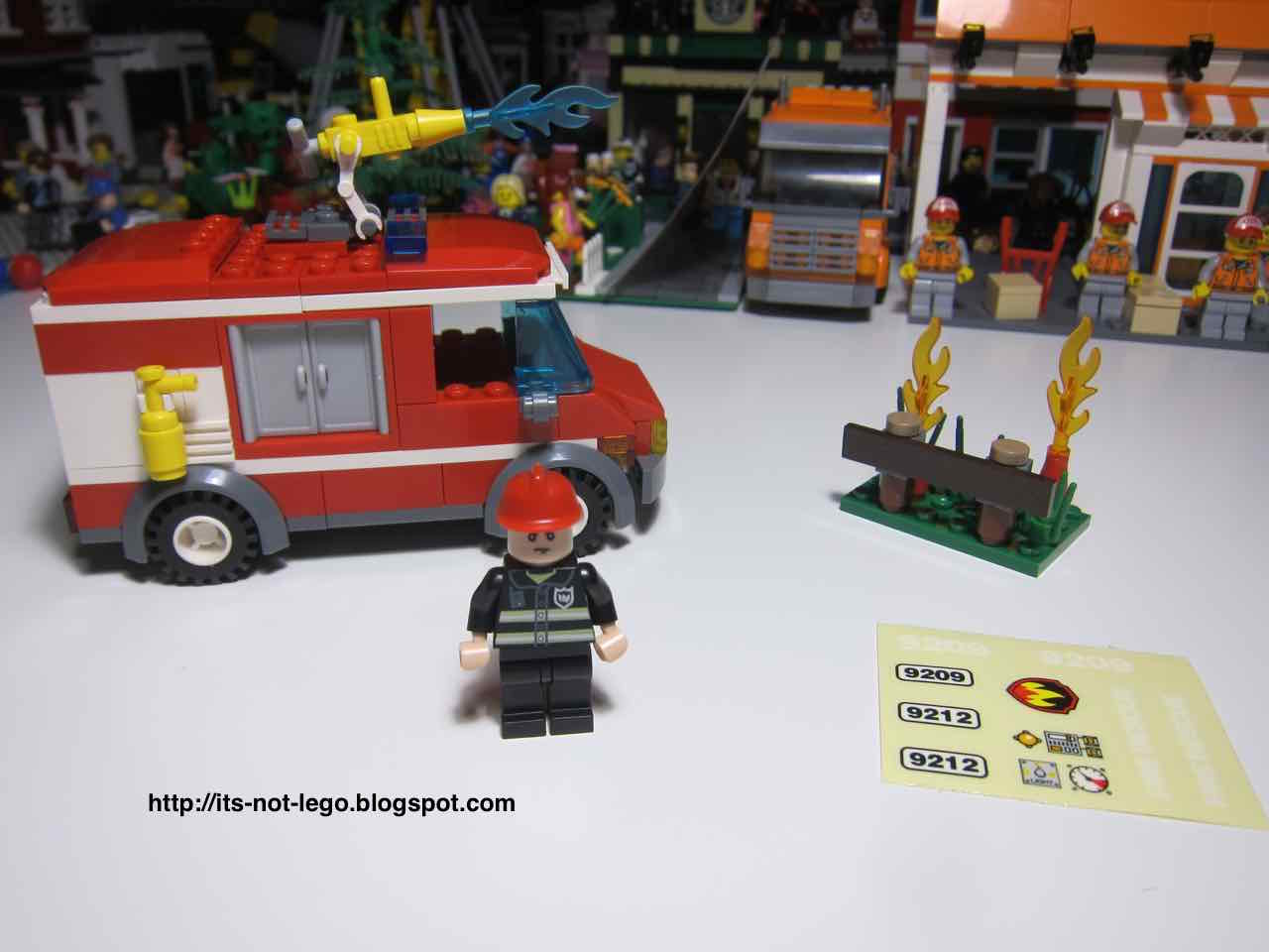 Its Not Lego Gudi 9209 Fire Fighting Truck Set Review