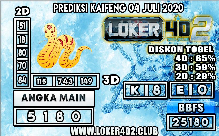 PREDIKSI TOGEL KAIFENG LOKER4D2 04 JULI 2020