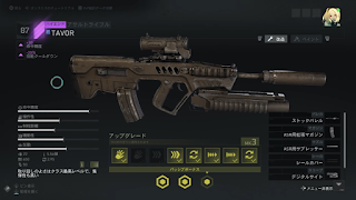 集めた武器の詳細画面