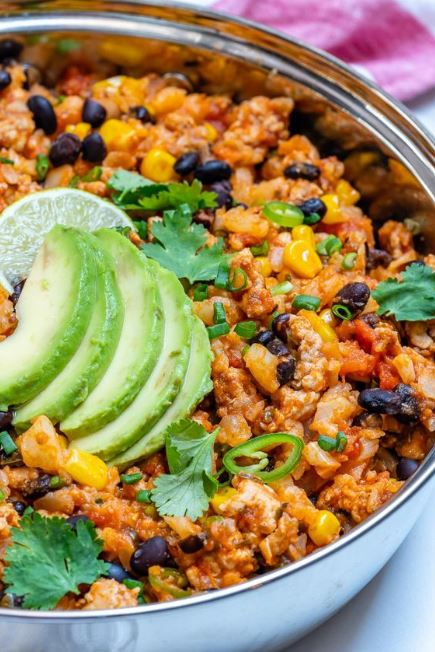 Taco Cauliflower Rice Skillet
