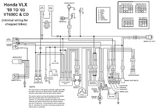 TJBC: Honda Shadow VT600CD Chopped Wiring Diagram