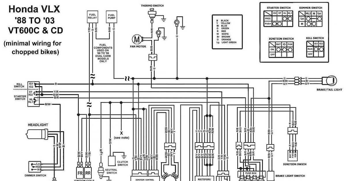 TJBC: Honda Shadow VT600CD Chopped Wiring Diagram